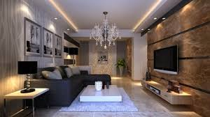 stylish lighting. Lighting Ideas For Living Room Walls: Stylish Salon With LED Ribbons And Spots L