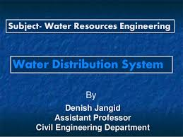 Water Resources Chart Water Distribution System Warabandi By Denish Jangid Unit
