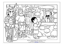 Coloring Page Young People In The Bible Apostle Pauls Nephew