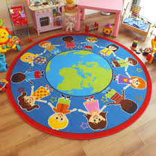 image of circle large kids area rug