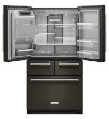 kitchenaid appliances black stainless. kitchenaid black stainless fridge interior christine dovey appliances