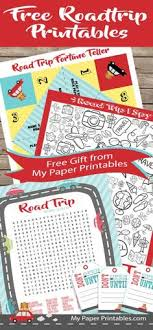 road trip free printable kids activity sheets