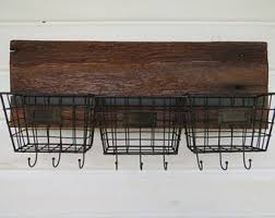 Wall Coat Rack With Baskets Coat rack baskets Etsy 71
