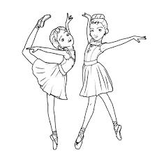Unico Disegni Per Bambini Da Colorare Ballerine Con Disegni Di