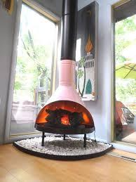 retro mid century mod pink black preway small freestanding cone