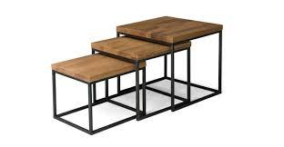 nesting furniture. Taiga Oak Nesting Tables - Article $399 Nesting Furniture A