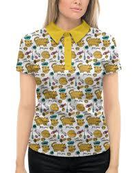 Рубашка Поло с <b>полной</b> запечаткой Коты и рыбки #1971995 от ...