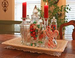 whimsical christmas table decorations | glass jars I have ...