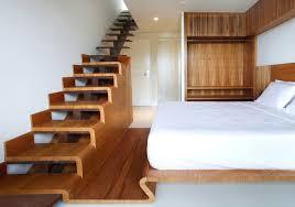 Half wood half steel stairs