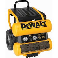 dewalt compressor. dewalt d55154 1.1 hp continuous 4 gallon electric wheeled dolly-style air compressor with panel dewalt a