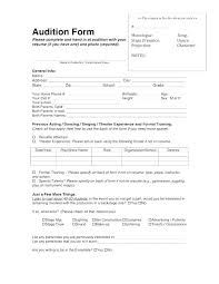 Theater Resume Format Acting Resume Sample Musical Theater Resume ...