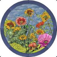 Stained Glass Flower Patterns Extraordinary Flower Stained Glass Patterns 48 Stained Glass Designs On CD