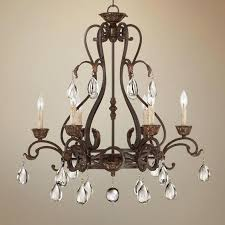 6 light bronze chandelier 1 2 wide 6 light bronze chandelier ceiling fan dunwoody 6 light