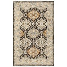 safavieh medallion pattern beige and brown area rug 5x8 hand tufted