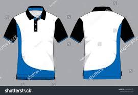 Blue Polo Shirt Design Polo Shirt Design White Blue Black Stock Vector Royalty