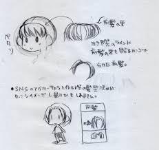 イラストの描き方 髪キャラの花形パーツ髪を考えてみよう