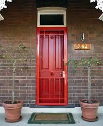 painting new steel entry doors. storm door painted to match front door. | security door, screen portfolio - painting new steel entry doors