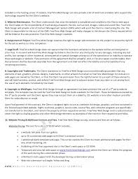 hosting contract agreement web hosting agreement template  web hosting terms and conditions template