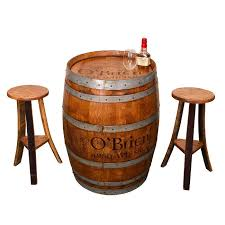 vintage whiskey barrel irish pub table set personalized