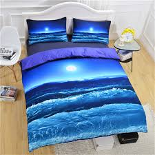 blue ocean see 3d bedding set hot scenery bed linen duvet cover set with 2pcs pillowcases twin full queen king size no fade