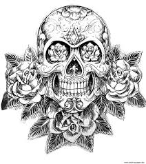 Small Picture Print sugar skull tatoo hard adult difficult Coloring pages