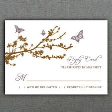 rsvp card template butterfly branch rsvp card template download print