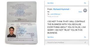 Jason Email Trolls Bourne's Journalist Brilliantly Scammer Anith – Passport With