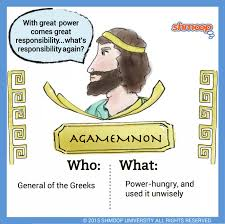 agamemnon in the iliad chart agamemnon