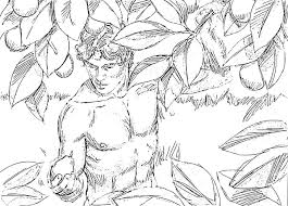 Small Picture Adam and Eve Coloring Pages