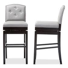 upholstered swivel bar stools. Baxton Studio Ginaro Modern And Contemporary Grey Fabric Button-tufted Upholstered Swivel Bar Stool Stools I