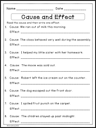 1St Grade Cause And Effect Worksheets Free Worksheets Library ...