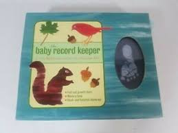 Details About The Baby Record Keeper Album Memory Book Kit Metro Books Fold Out Growth Chart