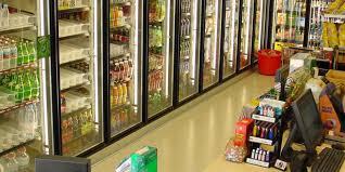 custom display walk in cooler with glass doors
