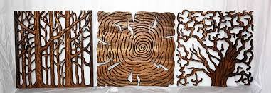 wood wall art wood carving tree of life carved wood wall art set on