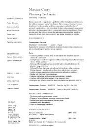 Maintenance Tech Resume Medical Lab Technician Resume Sample Pharmacy Tech Objective No