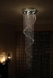 et2 contemporary lighting 23 1 2 cascada 9 light chandelier in polished