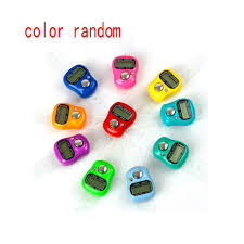 Color Random <b>Digital Finger</b> Ring Tally Counter Hand Held Knitting ...