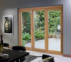 andersen folding patio doors. Kitchen: 3 Panels Oak Wood Folding Patio Doors With Black Dining Furniture Set - Andersen D