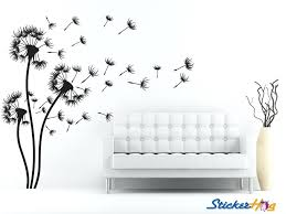 fl wall decals dandelions decorative flowers 3 fl wall decal fl wall decals target
