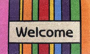 colorful welcome mat. Simple Colorful Colorful Welcome Mat Picture Throughout O