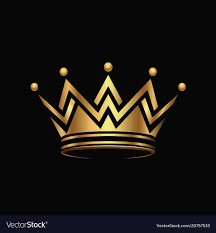 Logo With Crown Golden Crown Logo Abstract Design