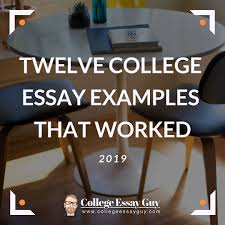 Short College Essay Twelve College Essay Examples That Worked 2019 Personal