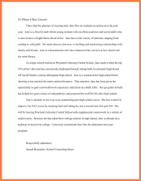 Sample Letters Of Recommendation For High School Students From Teachers