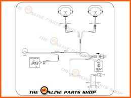 complete spot fog light wiring loom harness switch kit universal product brand new motorcycle wiring