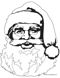 Easy Drawing Of Santa Face Coloring Pages Easy Way To Draw Santa