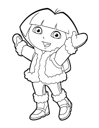 Dora Explorer Coloring Pages Free Printable Posing Coloring Pages