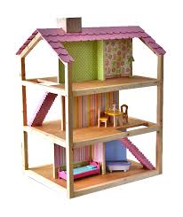 inspired by the kidkraft so chic dollhouse this do it yourself version is made of soy based plywood and finished with non toxic linseed oil