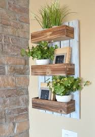 wooden wall planters