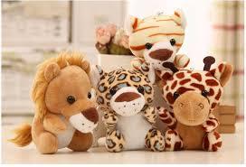 <b>10cm Cute Stuffed</b> Doll wild animals Tiger Elephant Monkey Lion ...