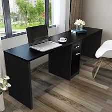 double office desk. tribesigns double workstation computer desk with filing cabinet u0026 drawers 78 inch length office extra large for two person modern simple style fit